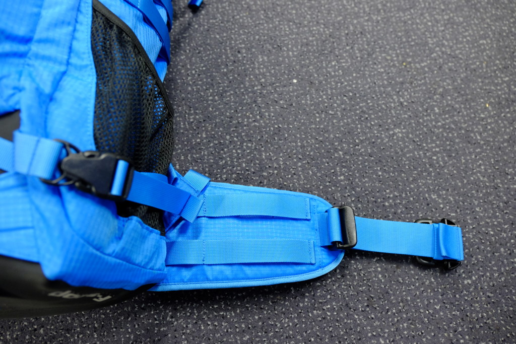The lumbar supports also  contain molle attachment straps