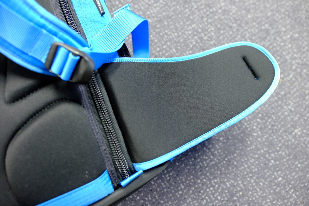 The padding on the lumbar supports