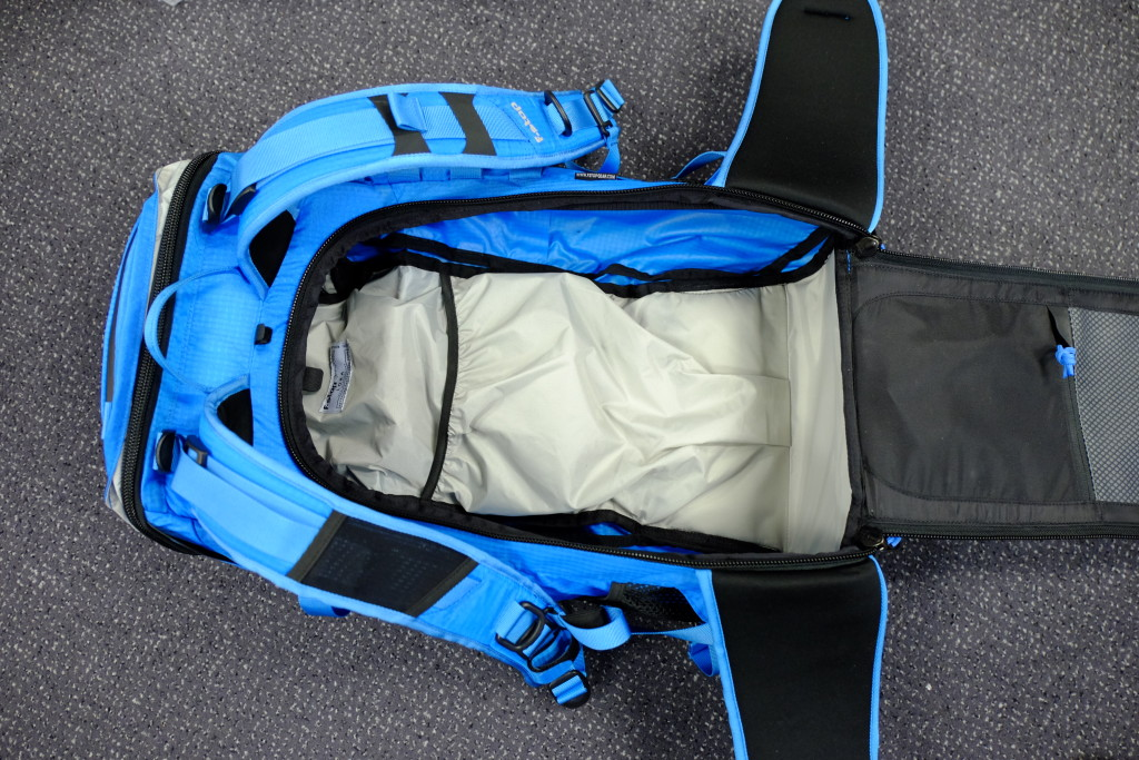 The main compartment without the ICU. Now it is just a comfortable backpack